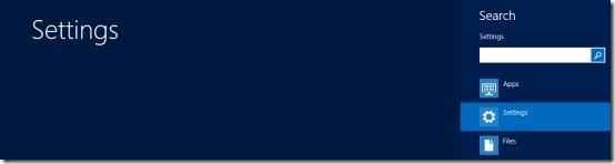 settings search menu windows 8