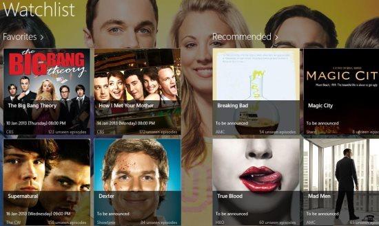 tv show reminder app windows 8