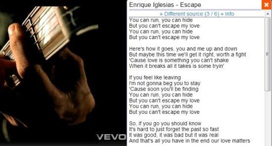 youtube lyrics extension