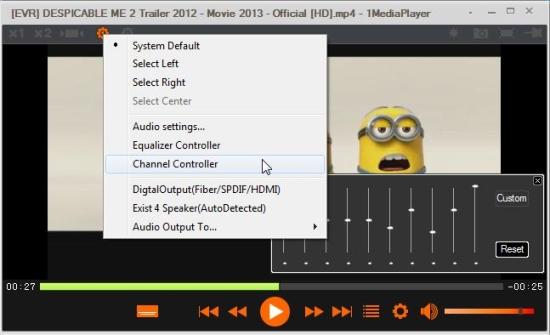1mediaplayer audio settings