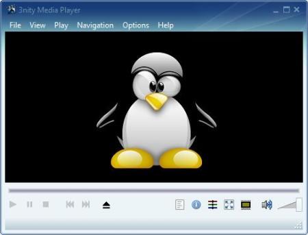 3nity Free Media Player default window