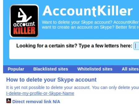 AccountKiller cant be deleted