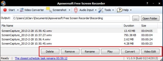 Apowersoft Screen Recorder options