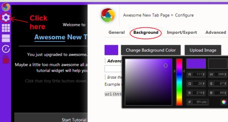 Awesome New Tab Page 04 customize new tab