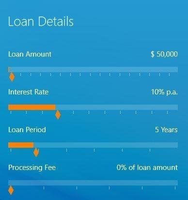 Bank Loan Calculator windows 8