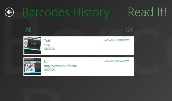 Barcode Read It! history
