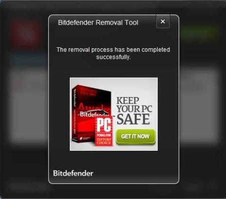 Bitdefender Rootkit Remover done