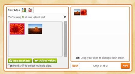 BiteSlide uploading images