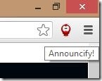Chrome Announcify main