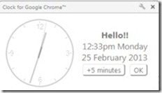 Clock for Google Chrome 04 analogue clock