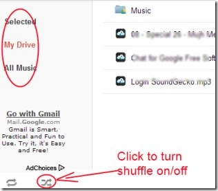 DriveTunes 04 play music from Google Drive