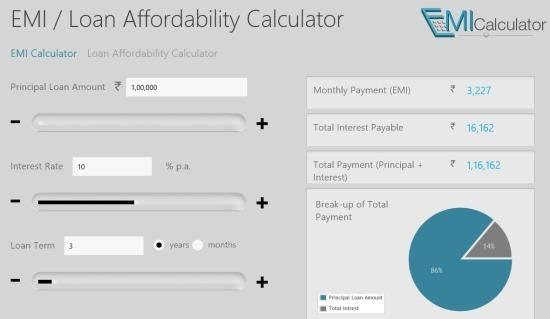 EMI Calculator For Windows 8