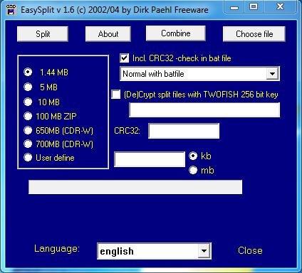 Easyaplit interface