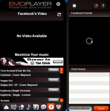 EmoPlayer Facebok connected