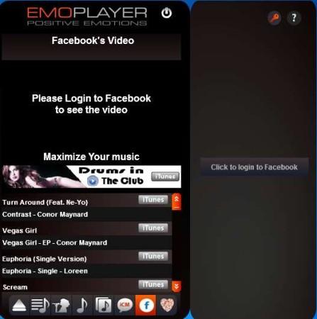 EmoPlayer default window