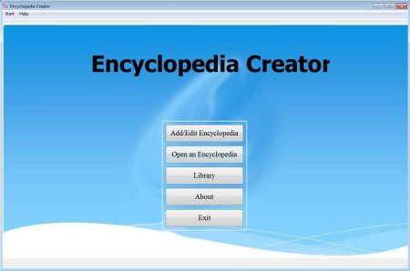 Encyclopedia Creator default window