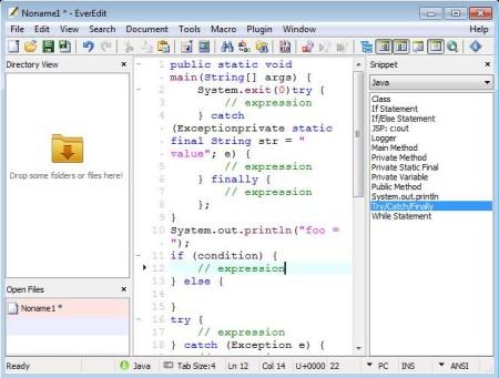 EverEdit code snippet