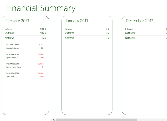 Expense Manager App For Windows 8 My Wallet Pro