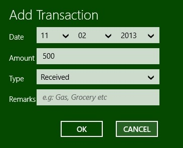 Expense Manager App For Windows 8 how to use