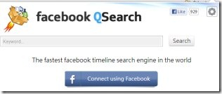 Facebook QSearch 02 Facebook timeline search
