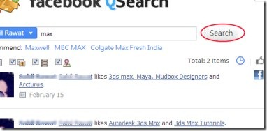 Facebook QSearch 04 Facebook timeline search