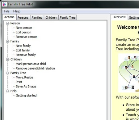 Family Tree Pilot settings