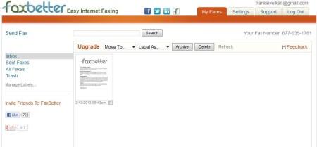 FaxBetter Online Fax Service default image