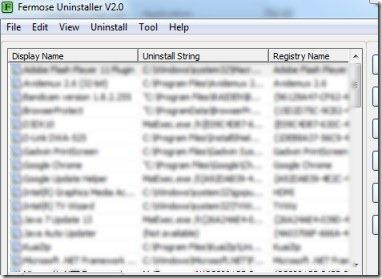Fermose Uninstaller 01 uninstaller software
