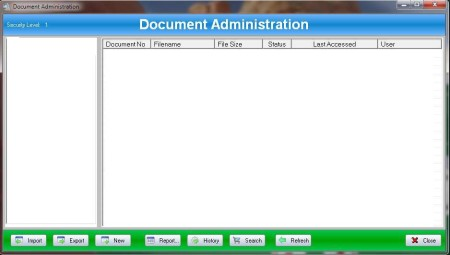 FileWall free database software default window