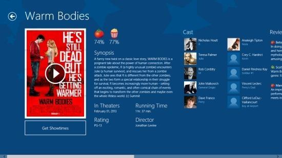 Flixster For Windows 8 screenshot