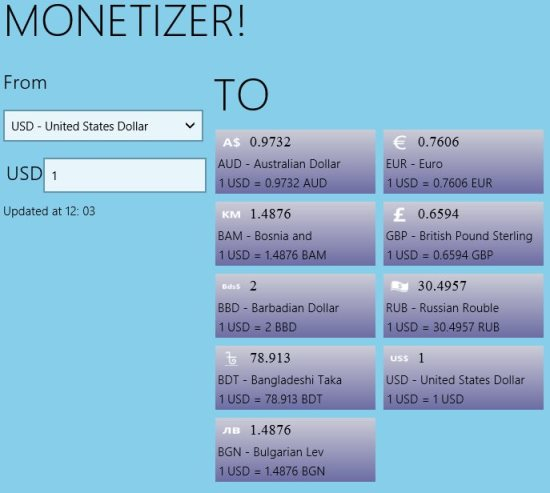 Free Windows 8 Currency Converter