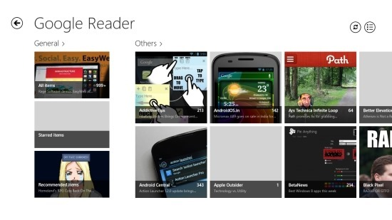 Google Reader App For Windows 8