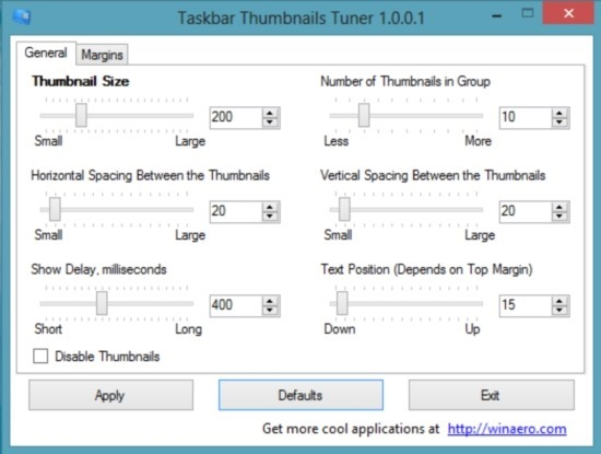 How To Change Taskbar Thumbnails Size In Windows 8