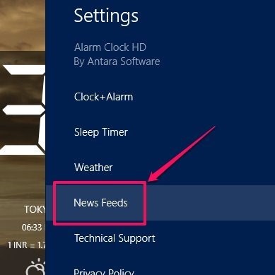 How to change the RSS news feed to Facebook feeds