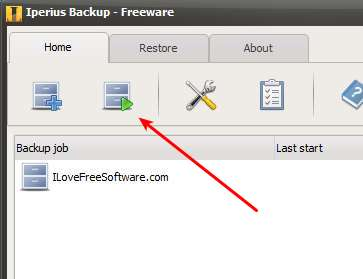 Iperius Backup Freeware running backup