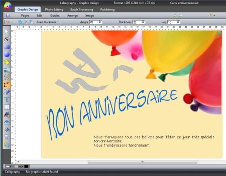 Labography editing graphics