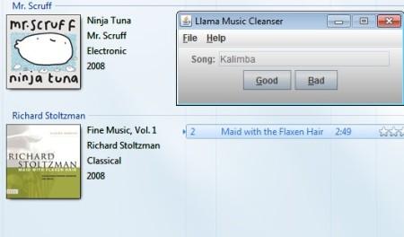 Llama Music Converter making selection