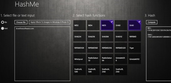 MD5 Generator App For Windows 8 HashMe