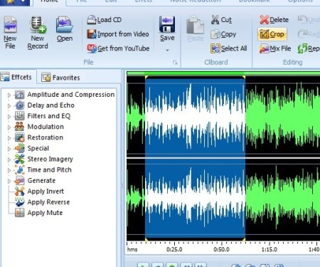 MP3 Editor selection editing