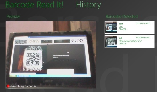 Minimalistic Barcode Reader For Windows 8 Barcode Read It!