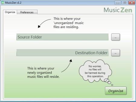 MusicZen default window