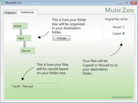MusicZen settings change