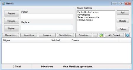 NamEx default window