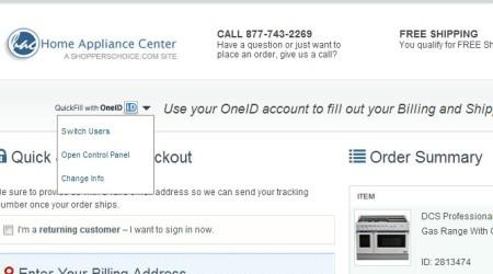 OneID using saved info