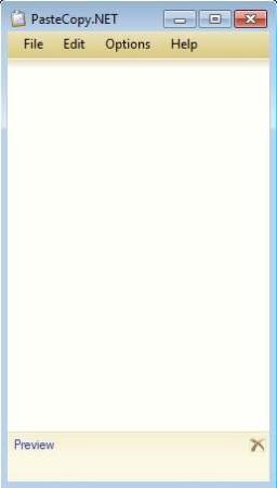 PasteCopy.NET Windows Clipboard Manager default window