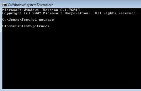 Potrace default window