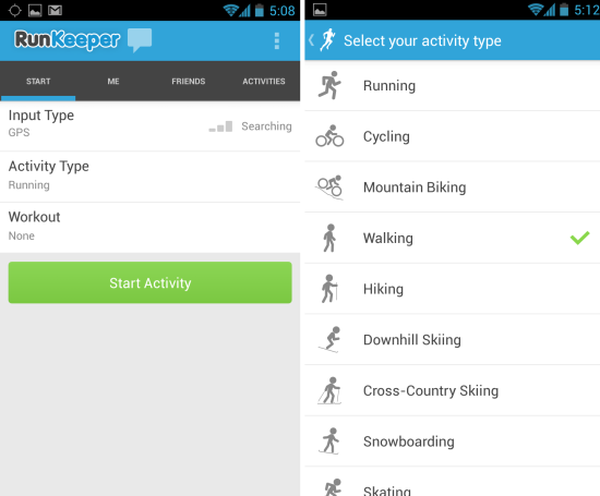 RunKeeper For Android Monitor Your Workout