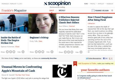 Scoopion news aggregation default window