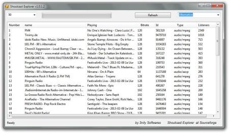 Shoutcast Explorer default window