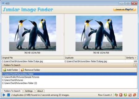 Similar Image Finder images compared